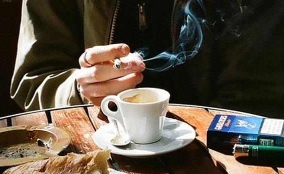Új cigis kávés levágva